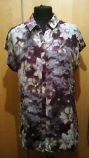 grey and purple blouse size M AMERYLLIS