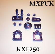 KXF250 17 BRILLANTE KIT MXPUK BLU ANODIZZATO LEGA PEZZI SET KXF 250 KX250F 632