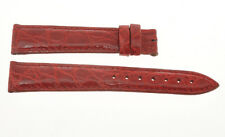 Cinturino red crocodile strap 16mm (14mm at the buckle) new unused