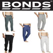 Authentic Bonds Mens Men's Easy Logo Trackie Track Pant Sports Black Grey AZUWI