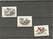 3 MNH stamps (serie) with ducks,1989 year