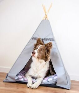 Teepee for a dog - Pink Dots, cat tent including pillow*pet sleeping*dog tent