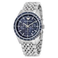 Emporio Armani Sportivo Chronograph Blue Dial Stainless Steel Mens Watch AR6072