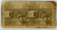 Market Place & Nelson Monument Montreal Canada Vintage Stereoview Photo 1894