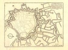 """""""st. omer"""". saint-omer. ville fortifiée/ville plan. pas de calais. de fer carte de 1705"""