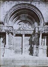 Portal,Abbey Church of Saint-Gilles du Gard, France, Magic Lantern Glass Slide
