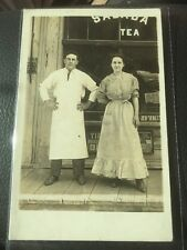 Real Photo Postcard Toledo Ohio Man And Lady Store Front