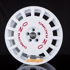4 Alufelgen OZ RALLY RACING Race White + Red Lettering 8x17 ET25 4x108 ML75 NEU