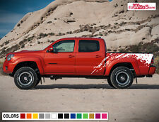 Decal Sticker Vinyl Side Bed Mud Splash Kit for Toyota Tacoma 2004-2017 Offroad
