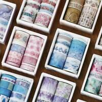 Watercolor Paper Flower Washi ing Tape Album Diary Decorative Scrapbook DIY