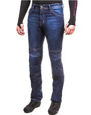 Jeans moto con Fibra Aramidica Giudici Denim Blue con protezioni CE
