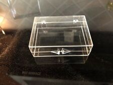 Clear Plastic Boxes with Hinged Lids 12 Count Rectangular * New Old Stock