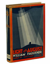 Light in August by WILLIAM FAULKNER ~ First Edition 1932 ~ 1st State ~ Orig DJ