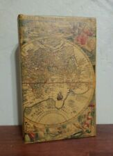 Antique Map Book Box Hidden Jewelry Secret Fake Faux Storage Treasure Gift