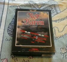 "RED BARON WWI DYNAMIX SIM GAME PC IBM 3.25"" COMPLETE"