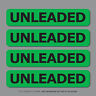 SKU2558 - 4 x Unleaded Fuel Reminder Stickers - Car - Truck - Bus - Van - Fleet