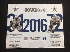 DALLAS COWBOYS PACKERS PLAYOFF TICKET STUB 1/15/2017 Championship UNCUT Untorn