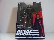 "HASBRO G.I. JOE 6"" CLASSIFIED SERIES Baroness and Snake Eyes Action Figure Lot"