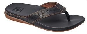 Reef Cushion Bounce Lux Leather Black/Brown Sandal Flip Flop