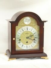 Hermle 8 Day Westminster Bracket Chime by Wm Widdop Mahogany Mantle Clock Case