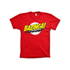 Officially Licensed TBBT Bazinga Super Logo Men's T-Shirt S-XXL Sizes