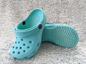 CROCS Size C 10 Kids Aqua Classic Clog Crocband Shoes Sandal Iconic Comfort