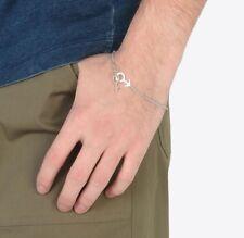 NEW MAISON MARGIELA  Sterling Silver Gender Bracelet L Large NWT Men's