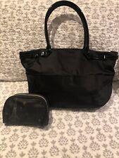 agnes b Black Voyage Handbag Red Lining RRP $229 + Gift Japan Exclusive