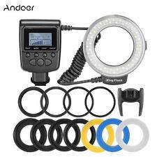 Andoer RF550D Macro LED Ring Flash Light for Canon Nikon Pentax DSLR Camera O2C5
