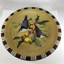 NEW Lenox Winter Greetings Everyday Tartan By C. McClung Nuthatch Salad Plate