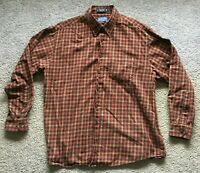 Pendleton Canterbury Cloth Button Shirt Red Plaid Pima Merino Wool Men's Size XL