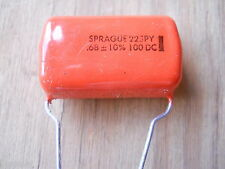 .68 mfd 100 VDC Mylar Capacitor (NOS,New Old Stock)(QTY 10 ea)H2