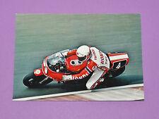 CARTE POSTALE CPA MICHEL FRUTSCHI PILOTE MOTO HONDA RS 1000 CIRCUIT BUGATTI 1982