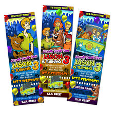 SCOOBY DOO BIRTHDAY PARTY INVITATION TICKET FIRST 1ST -c2 CARD customizable
