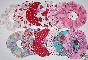 Hair Scrunchie Valentines Day Fabric Scrunchies by Sherry Hearts Kisses Snoopy