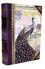 Punch Studio Gold Foil Keepsake Book Nesting Box Purple Peacock 61285 Small