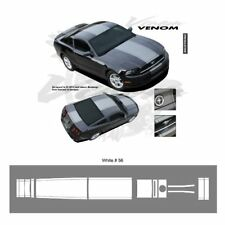 Ford Mustang 2013 up Center Stripes Graphic Kit - Bright White