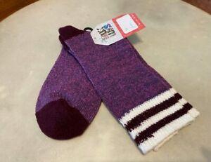 MUK LUKS Purple Heather Microfiber Comfy Soft Lounge Boot Socks O/S New