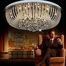 Elegant Modern Clear Crystal Ceiling Fixtures Lamps Chandelier Led Lighting