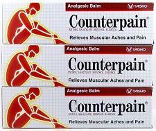 3x120g COUNTERPAIN HOT HEAT ANALGESIC WARM BALM CREAM MUSCLE PAIN TENSION RELIEF