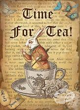 Alice nel paese delle meraviglie di tempo per il tè Vintage con metallo segno ARREDAMENTO Adorabile Regalo