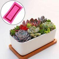 DIY Concrete Cement Silicone Mold Flower Pot Planter Vase Holder Rectangle Shape