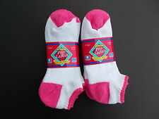 Hawk Pro Ladies Made In USA Lo-Cut Socks Size 6-10 Six Pairs Pink/White