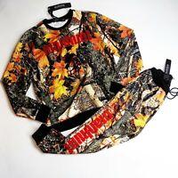 Hudson 2p set crewneck sweater & pants  100%AUTHENTIC size LARGE multicolor