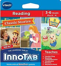 VTECH INNOTAB 2, 2S, 3, 3S, GAME CARTRIDGE READING CLASSIC STORIES NIP BIRTHDAY