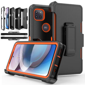 For Motorola One 5G Ace/G 5G Case Shockproof Cover+Clip fits Otterbox Defender