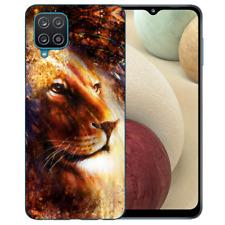Silikon Handy Hülle für Samsung Galaxy A42 5G mit Bilddruck LöwenKopf Porträ