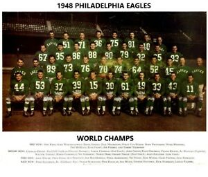 1948 PHILADELPHIA EAGLES 8X10 TEAM PHOTO FOOTBALL PICTURE NFL