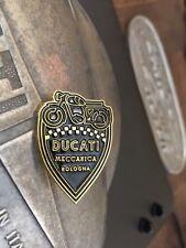 Retro Ducati Meccanica Black Gold Pin Falcon Cadet Mountaineer Brio Elite Diana
