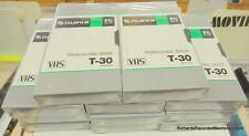 11 NEW Fuji Professional Grade T-30 BLANK VHS Tape PG T30 T 30 FujiFilm 64m/210'